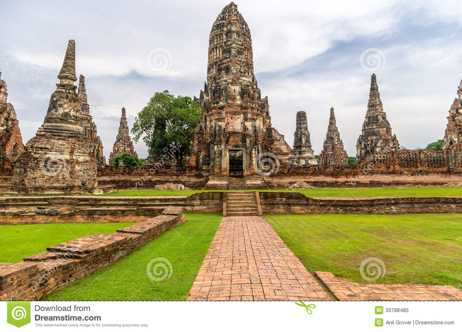 Wat Chaiwatthanaram In The City Of Ayutthaya, Thailand. It ...