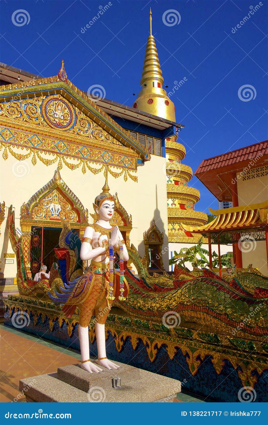 Wat Chayamangkalaram Thai Temple del Buda de descanso Penang