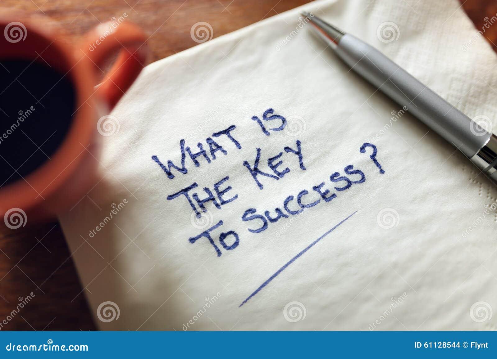 Wat de sleutel aan succes is