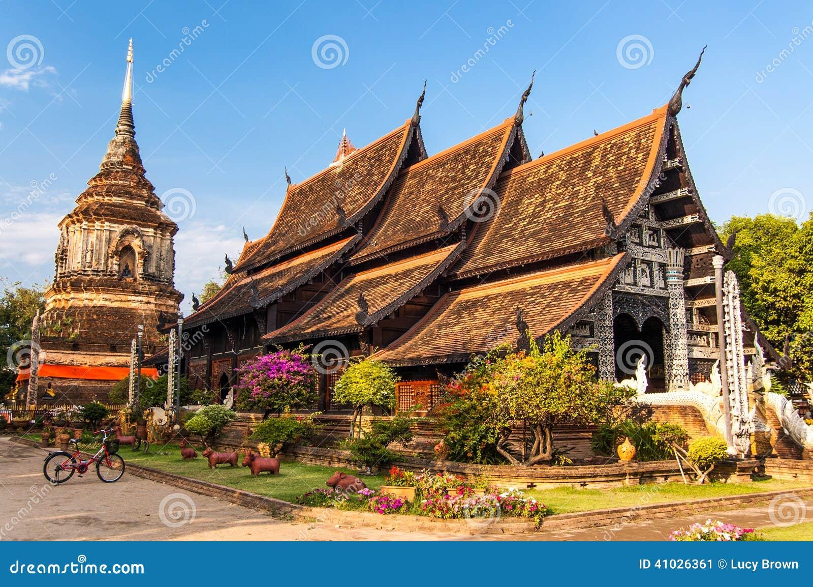 Wat Lok Molee Chiang Mai, nordliga Thailand
