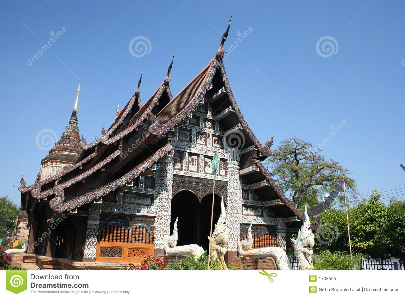 Wat Lok Molee, Chiang Mai, Thailand Royalty Free Stock Photo - Image: 1708595