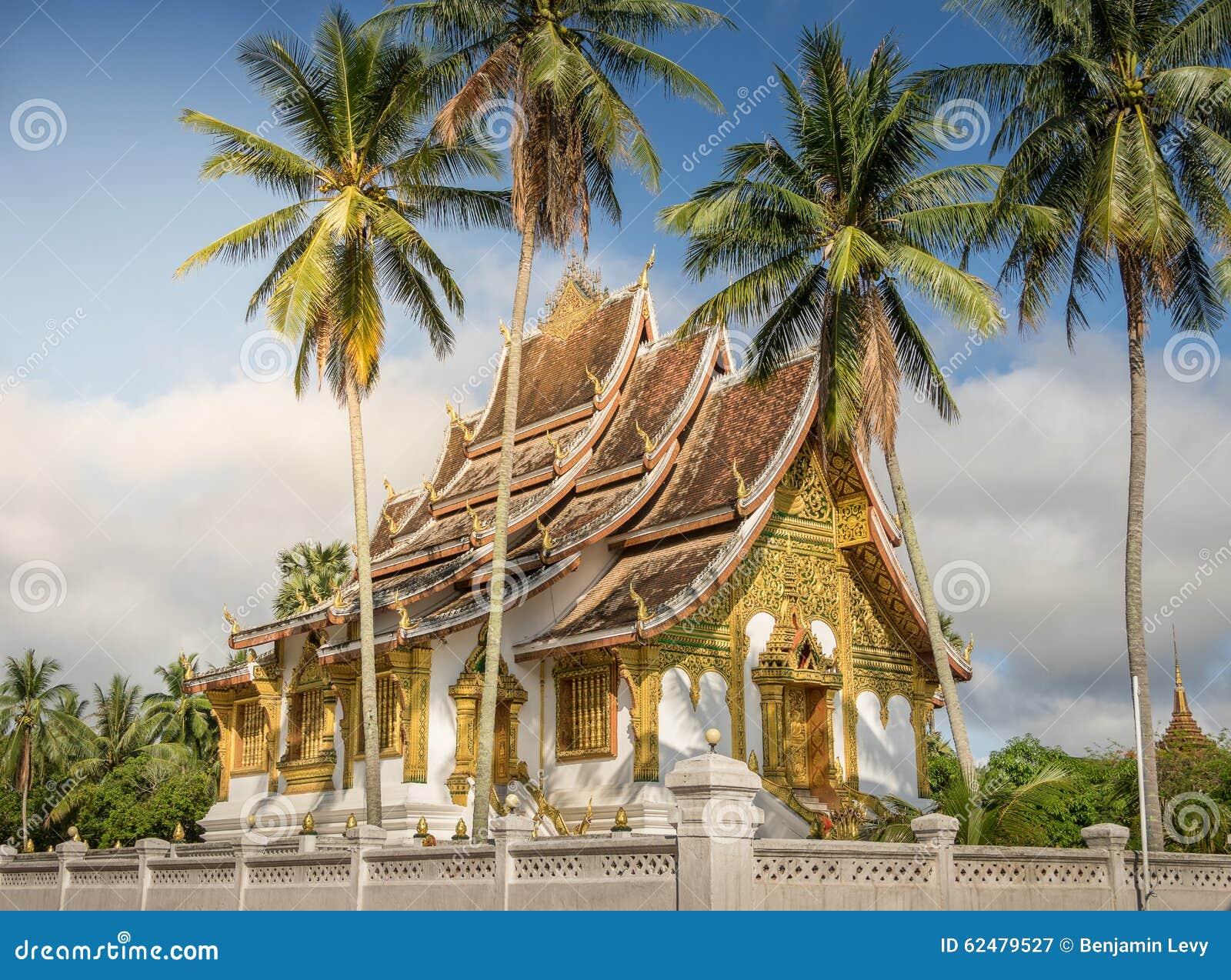 Wat Mai tempel och klosterluangprabang Laos
