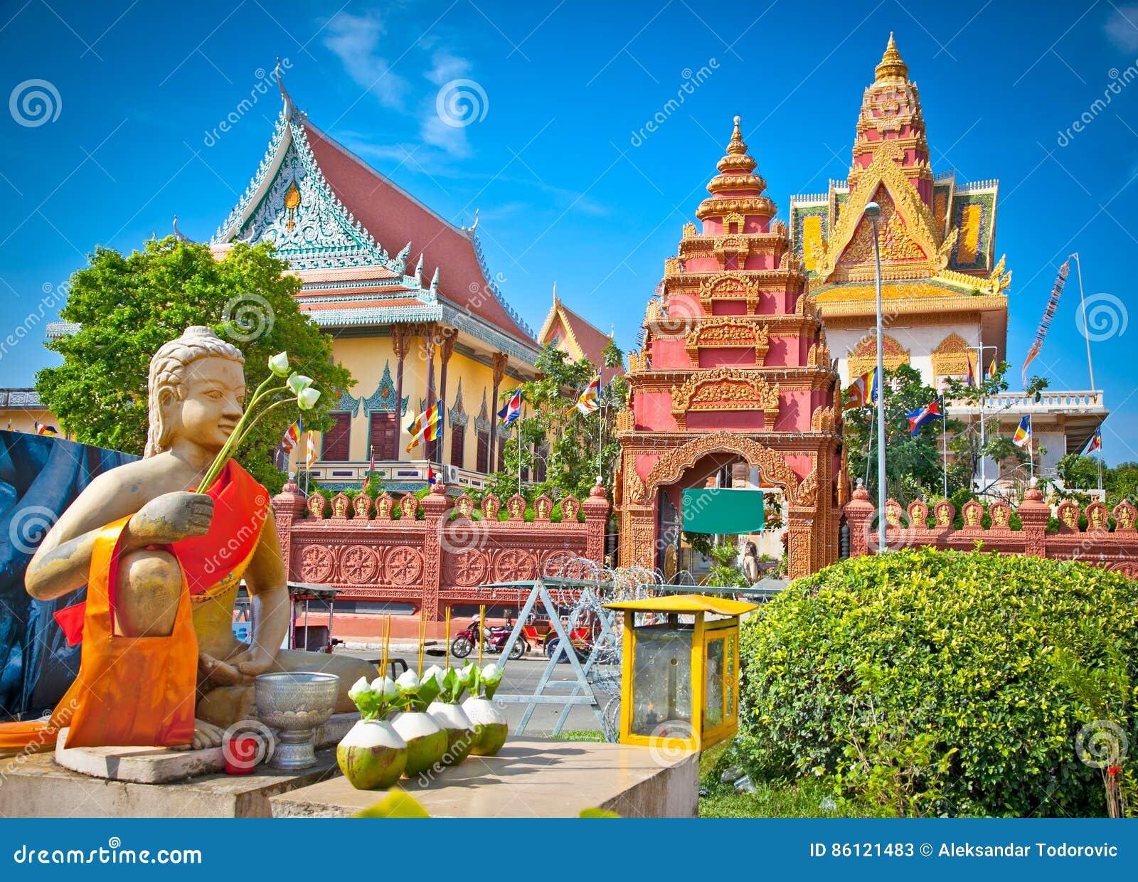 Wat Ounalom Pagoda, Phnom Penh, Kambodscha