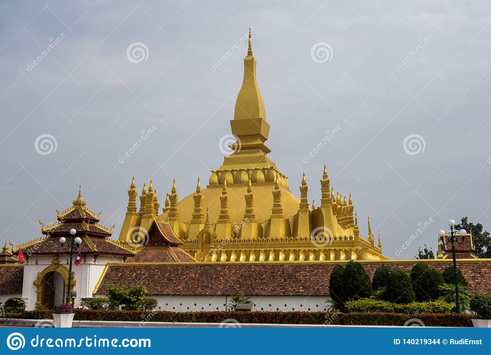 Wat Pha That Luang Temple a Vientiane, Laos