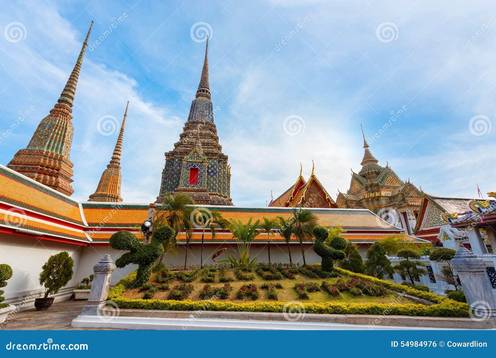 Wat Pho (Pho寺庙)在曼谷