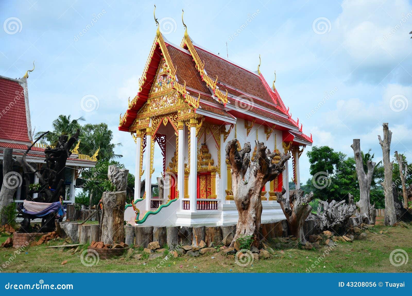 Download Wat Pho Sri Sa-på I Pon Den Ngoy Byn I Surin Thailand Arkivfoto - Bild av klosterbroder, pagoda: 43208056