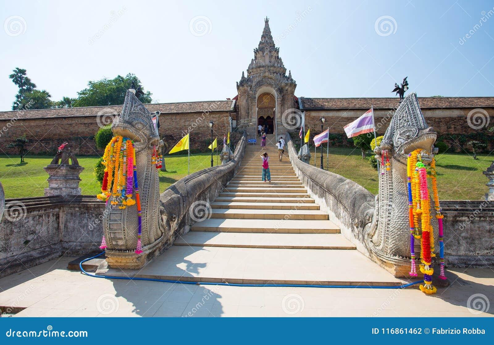Wat Phra которое висок Lampang Luang, Lampang, Таиланд