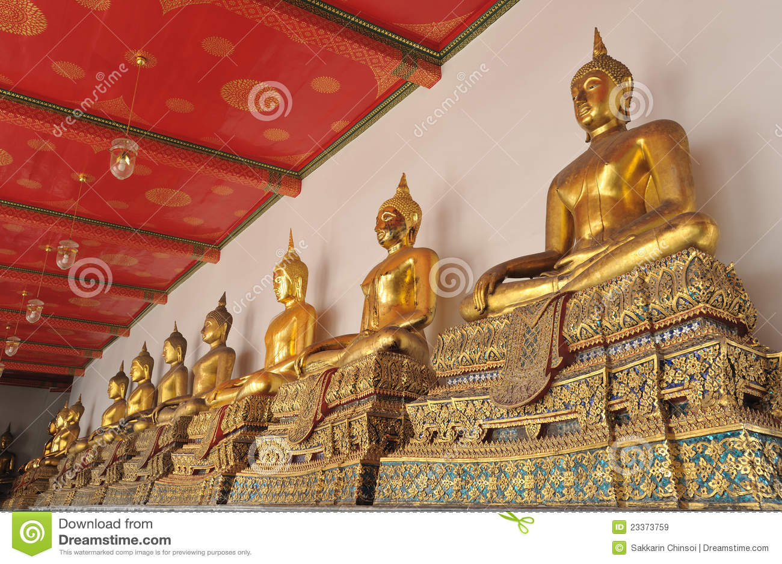Wat Phra Chetuphon Royalty Free Stock Images - Image: 23373759