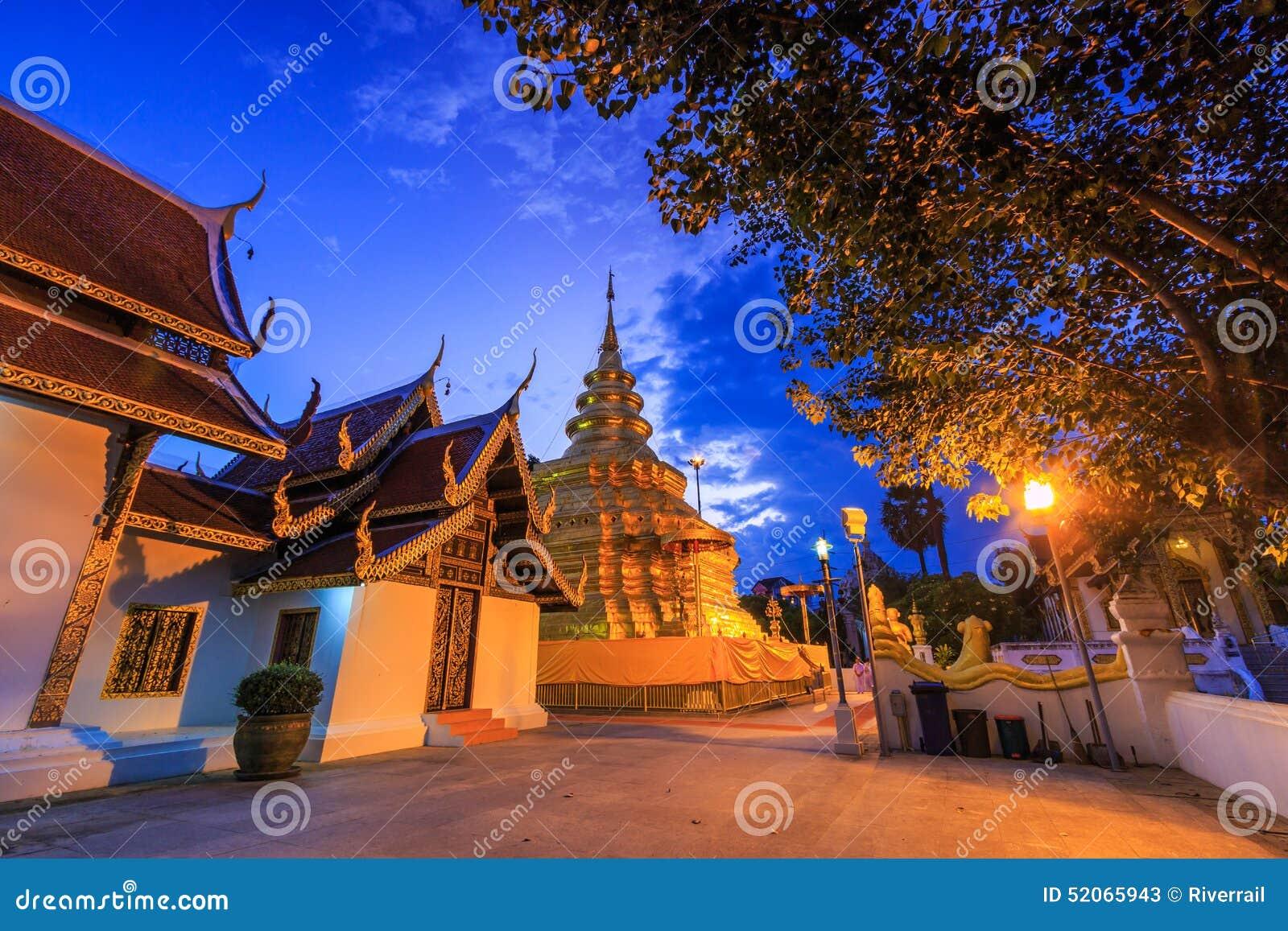 Wat Phra Dhatu Sri Chomtong Or Phra That Chom Thong Stock ...