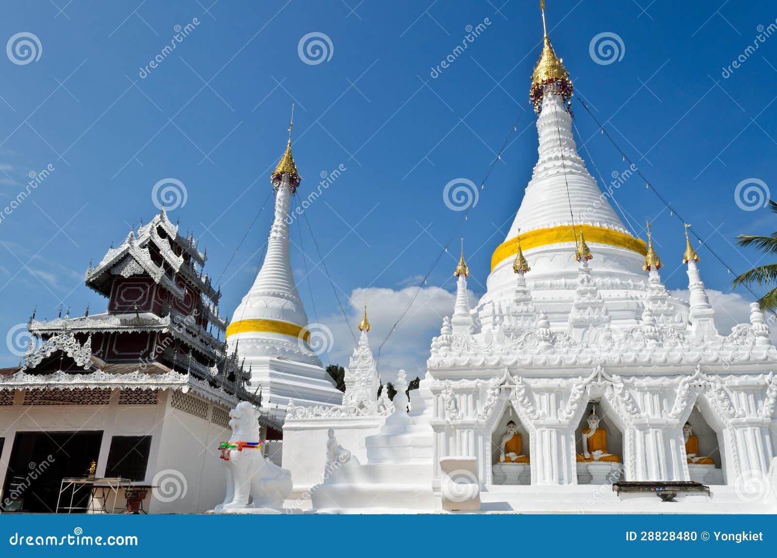 Wat Phra That Doi Kong Mu Temple, Thailand. Stock Photo ...