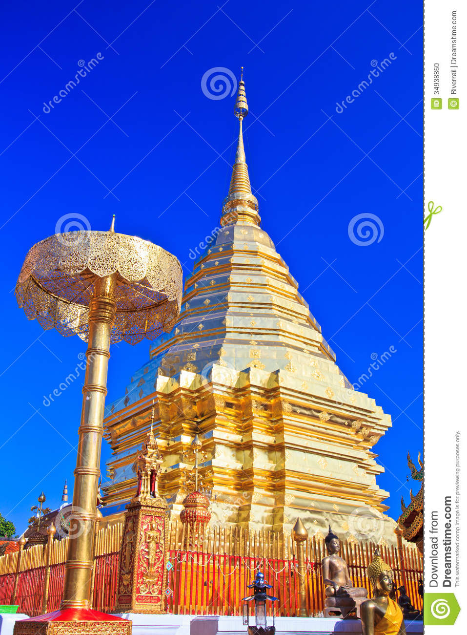 Wat Phra That Doi Suthep Stock Photo - Image: 34938860