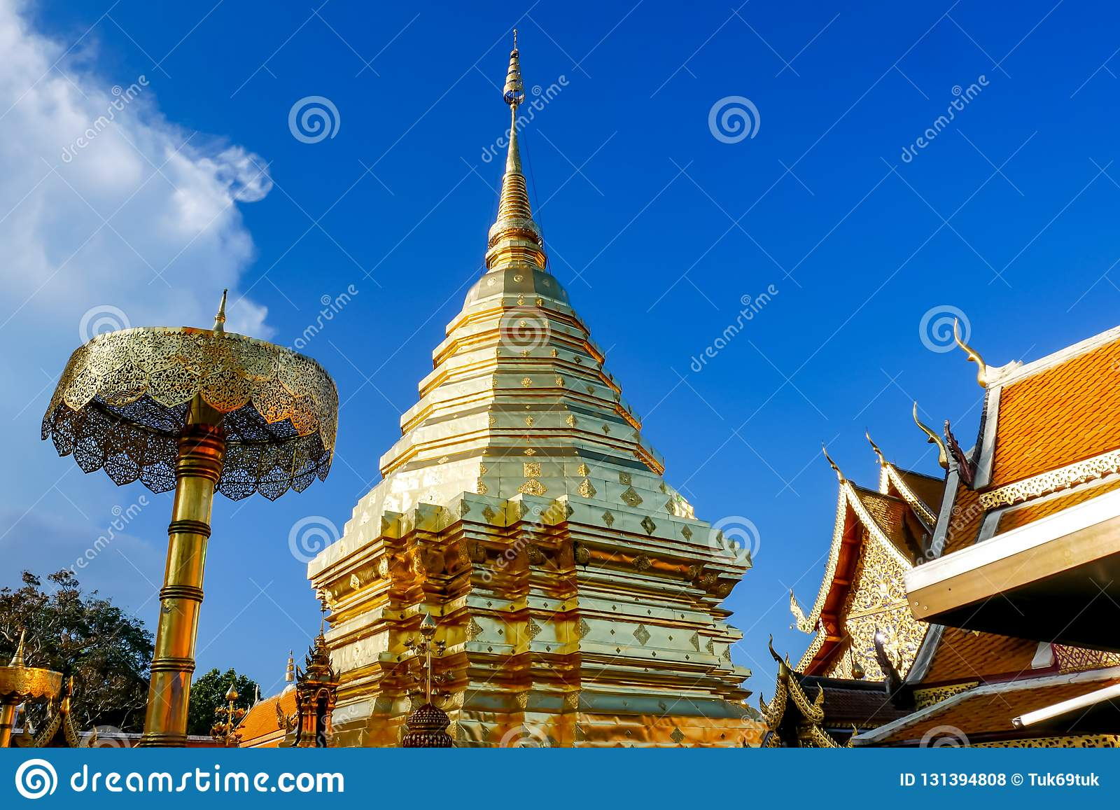 Wat Phra That Doi Suthep is tourist attraction of Chiang Mai, Thailand.Asia