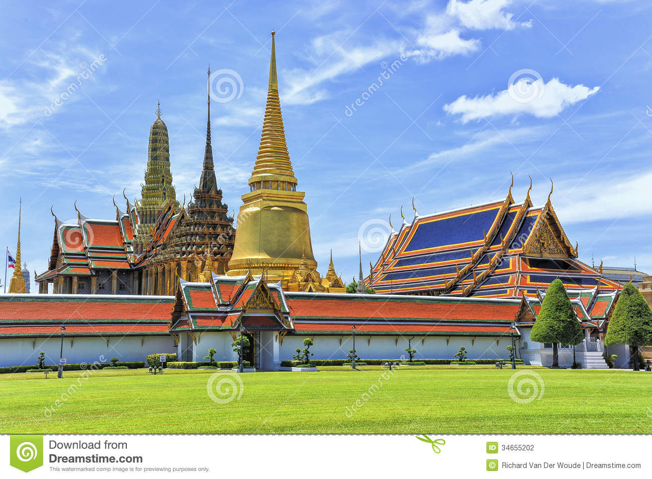 Buckingham Palace Facts Wat Phra Kaew Grand Palace Bangkok Stock Photography