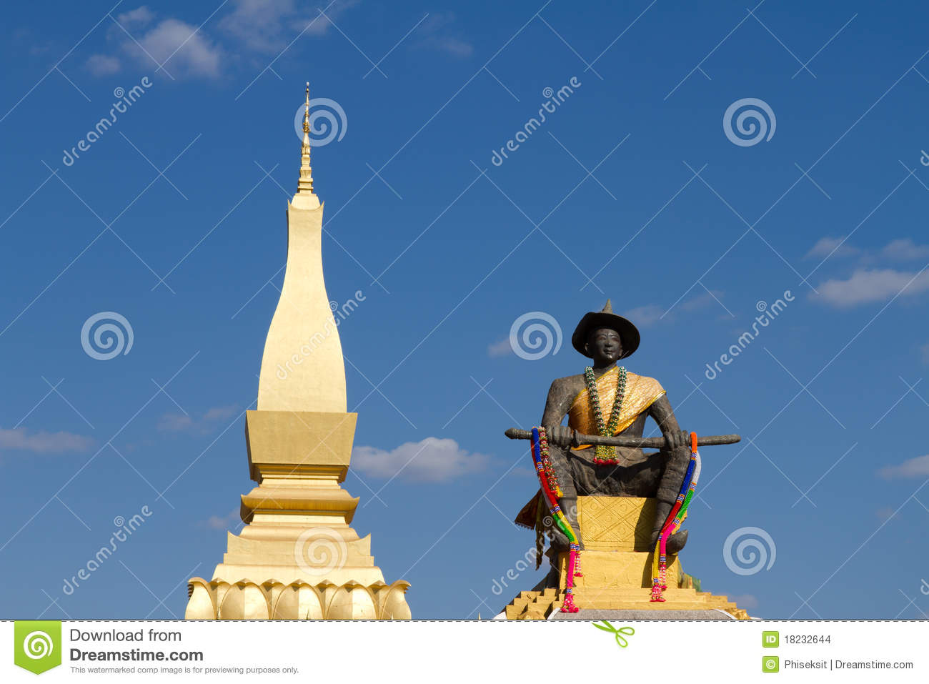Wat Phra That Luang Stock Images - Image: 18232644