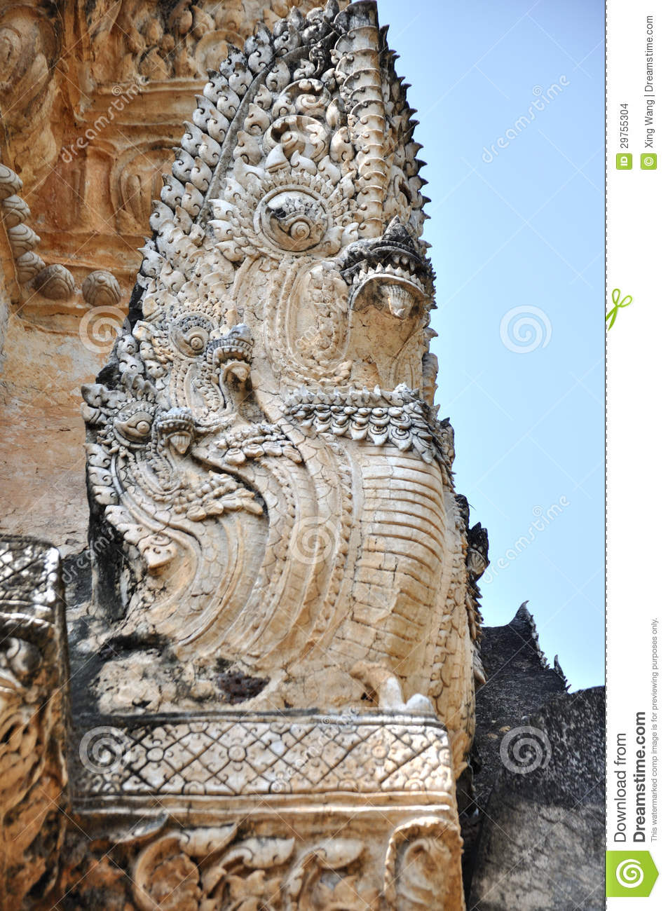 Naga At Wat Phra Pai Luang Stock Images - Image: 29755304