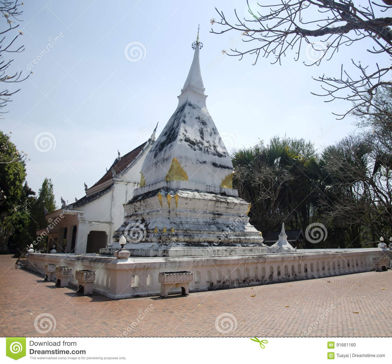 Wat phra that si song rak temple in loei thailand stock Architecture si