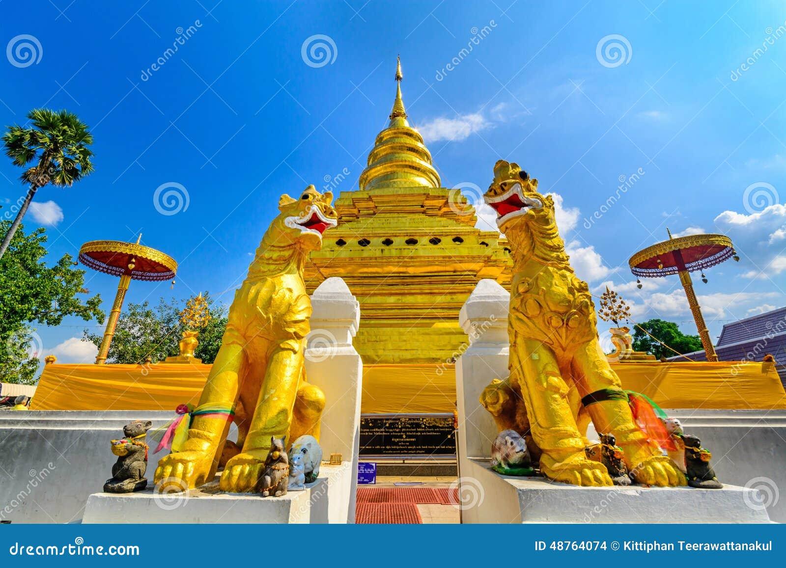 Wat Phra That Sri Chom Thong. Chiang Mai, Thailand Stock ...