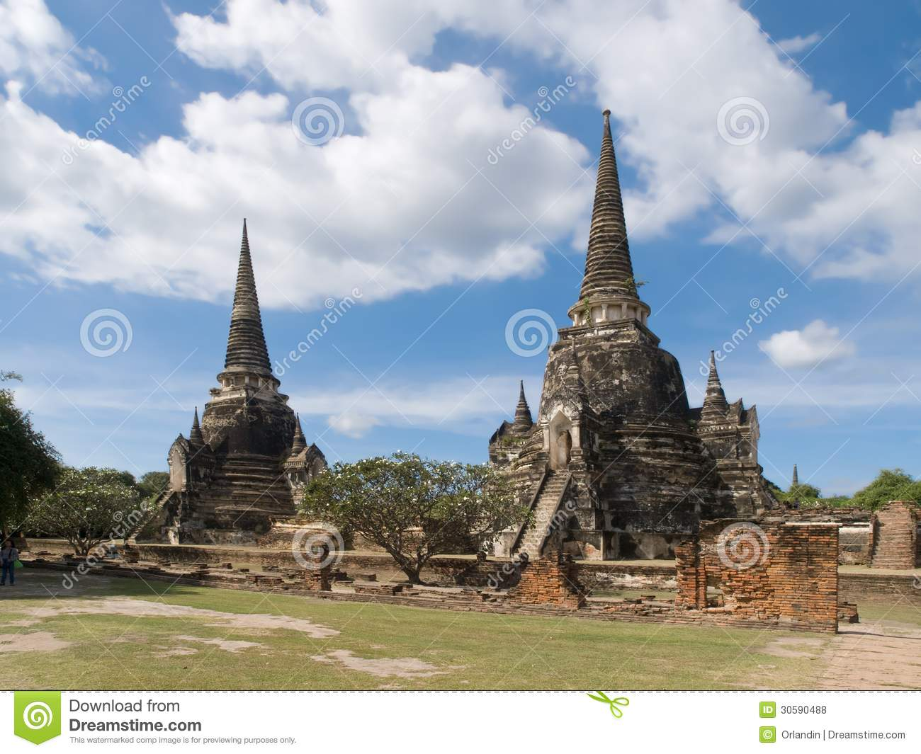 Wat Phra Sri Sanphet Royalty Free Stock Photos - Image: 30590488