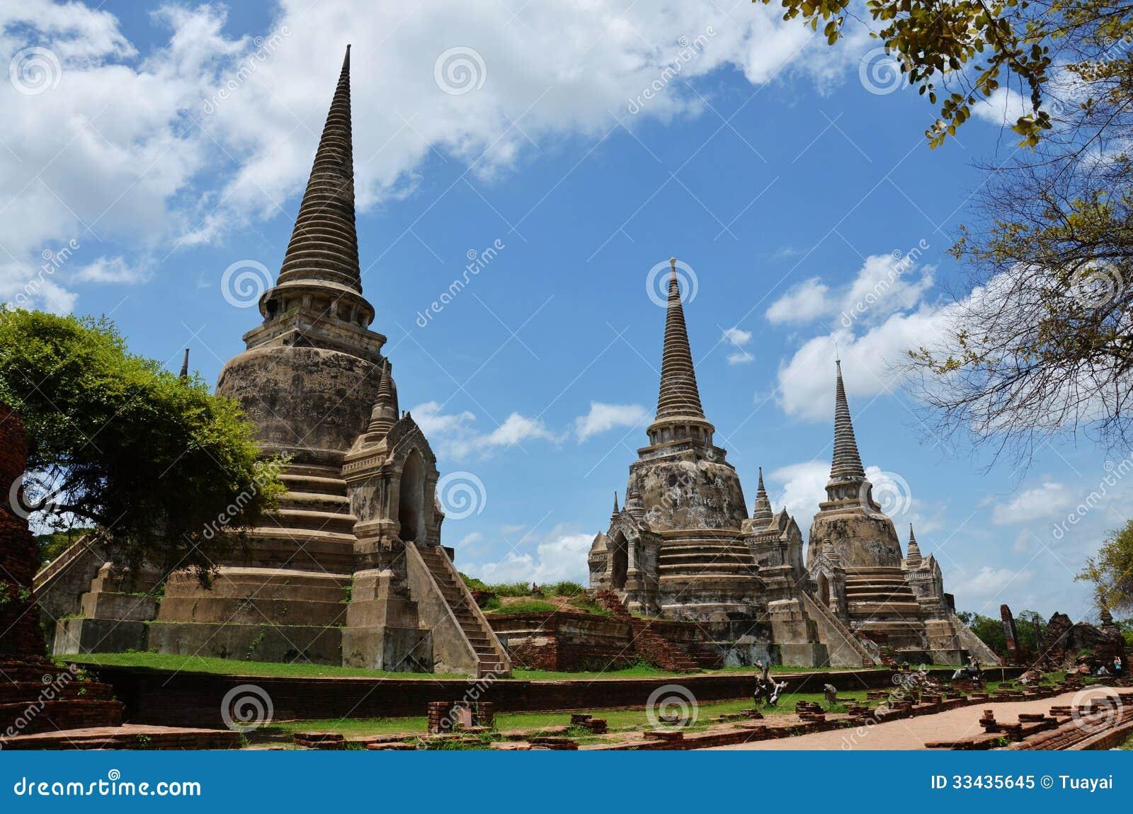 Wat Phra Sri Sanphet At Ayutthaya Historical Park Thailand Royalty Free Stock...