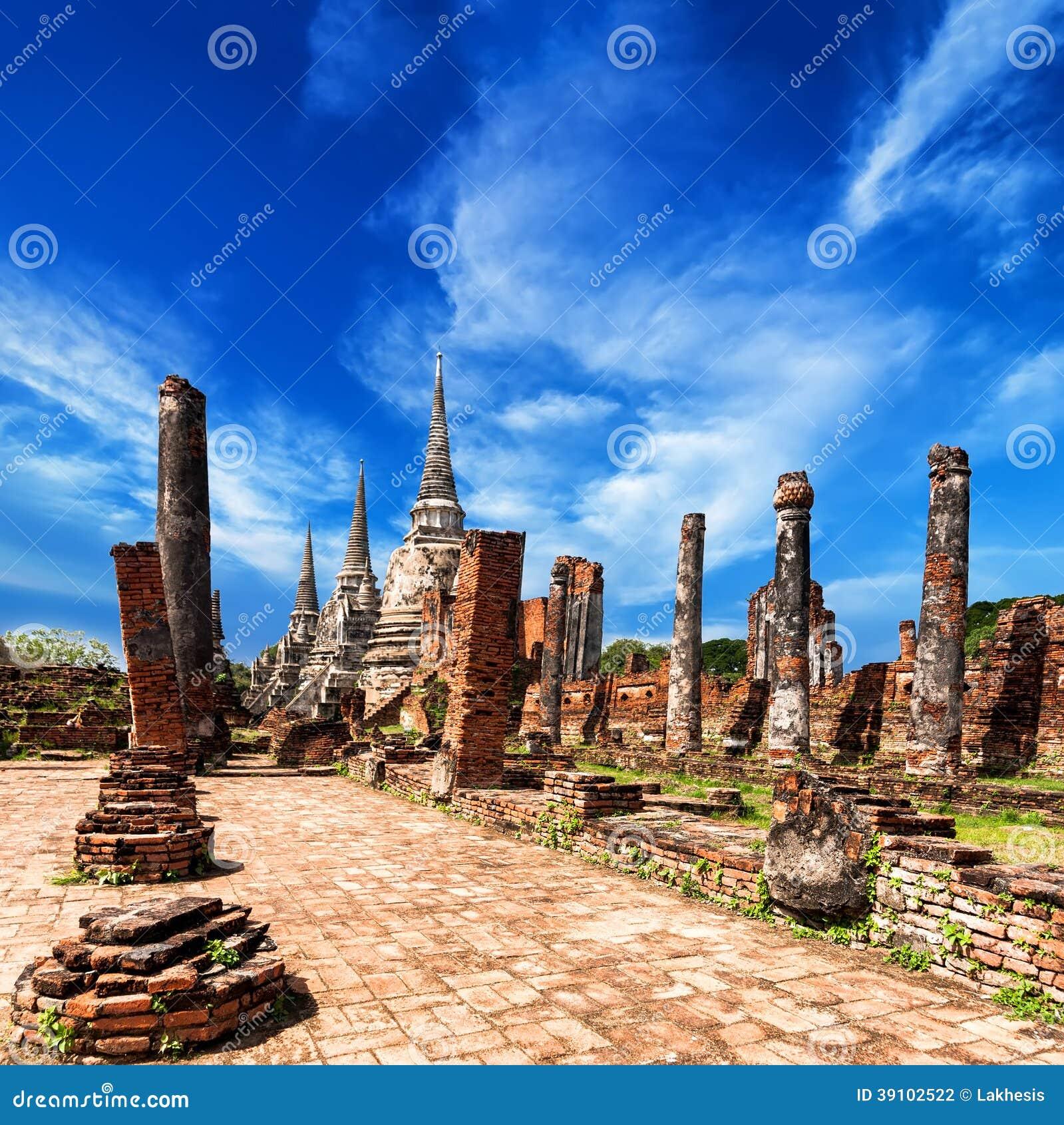 Wat Phra Sri Sanphet-tempel. Ayutthaya, Thailand