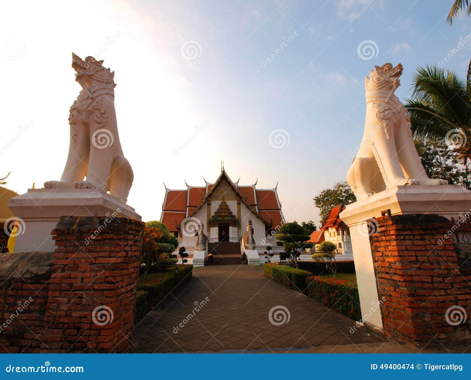 Download Wat Phumintr, Nan-Stadt, Thailand Stockfoto - Bild von buddha, gold: 49400474