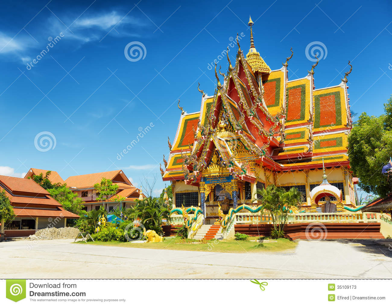 Wat Plai Laem Temple In Samui Island, Thailand Stock Photos - Image: 35109173