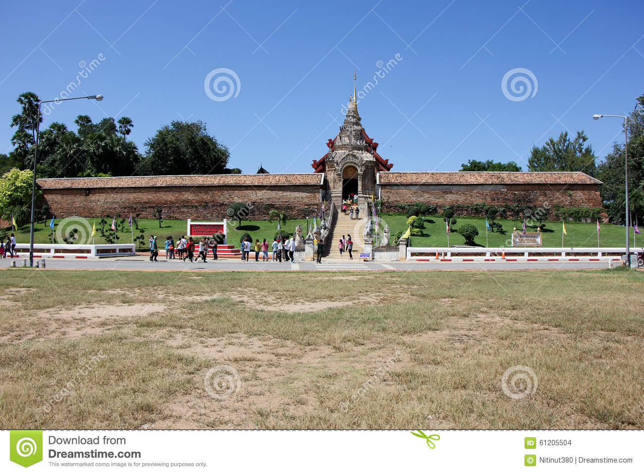 Lampang Luang Thailand  City new picture : LAMPANG, THAILAND OCTOBER 21 2015: Wat pra that Lampang Luang. Lanna ...