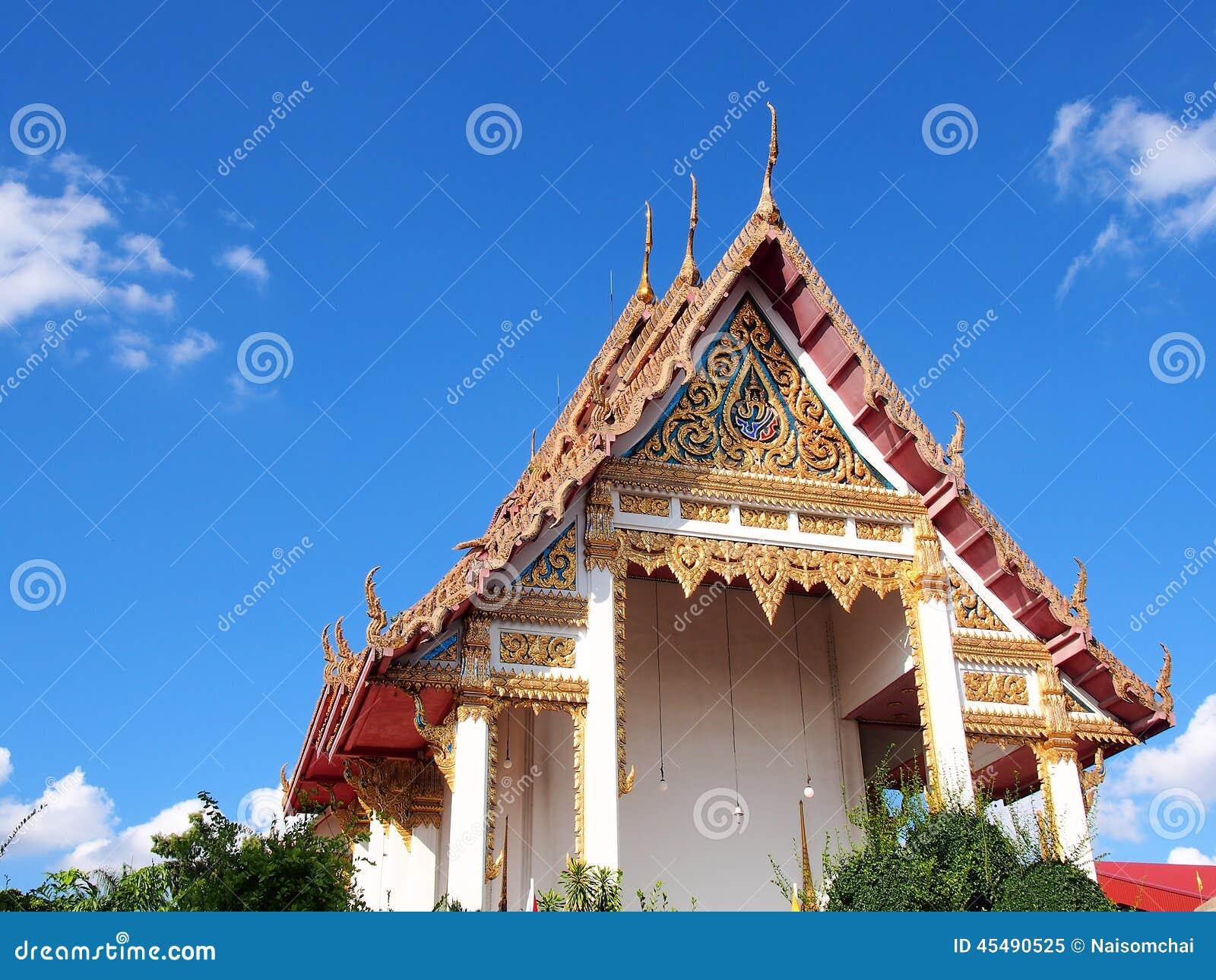 Wat racha phruk sa公羊泰国主要寺庙的鼓膜
