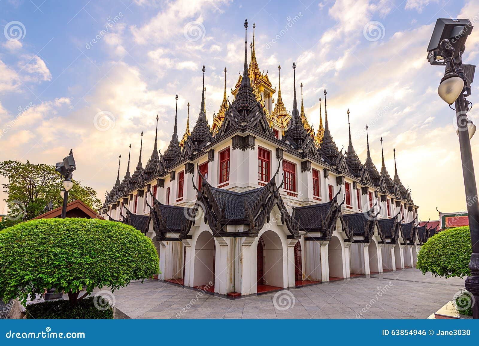 Wat Ratchanatdaram(Loha Prasat) Temple, Bangkok, Thailand ...