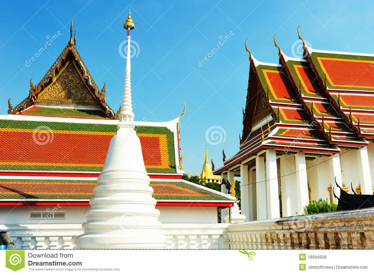 Wat Ratchanatdaram Temple In Bangkok Royalty Free Stock ...