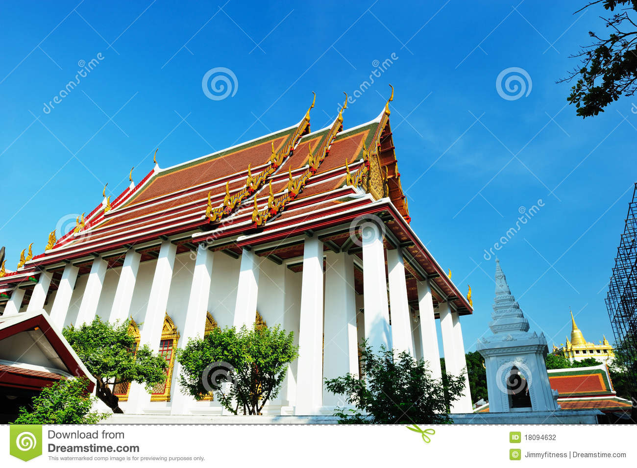 Wat Ratchanatdaram Temple In Bangkok Stock Photography ...