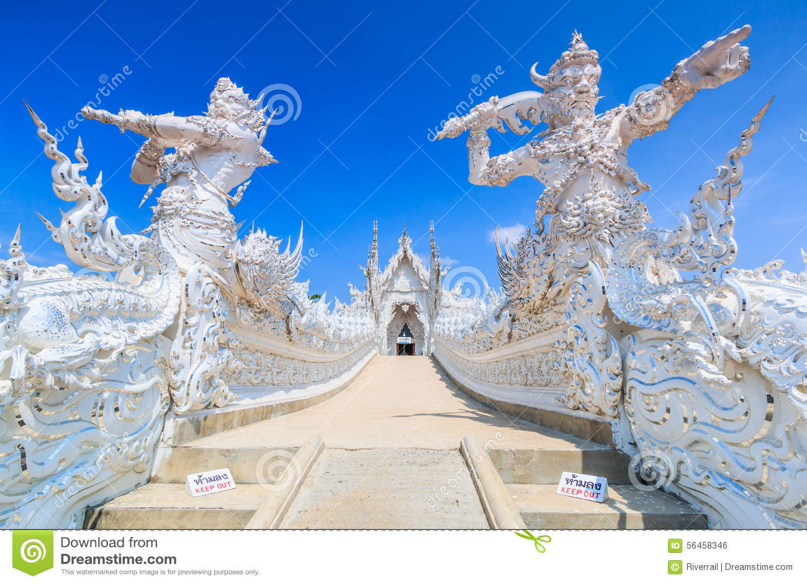 Wat Rong Khun in der Chiangrai Provinz, Thailand