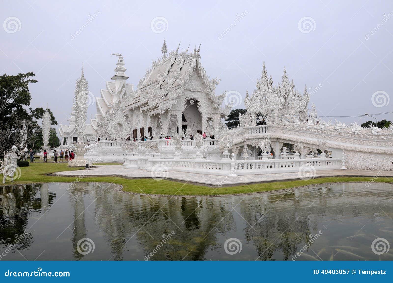 Download Wat Rong Khun (weißer Tempel) Redaktionelles Stockfotografie - Bild von auslegung, architektur: 49403057