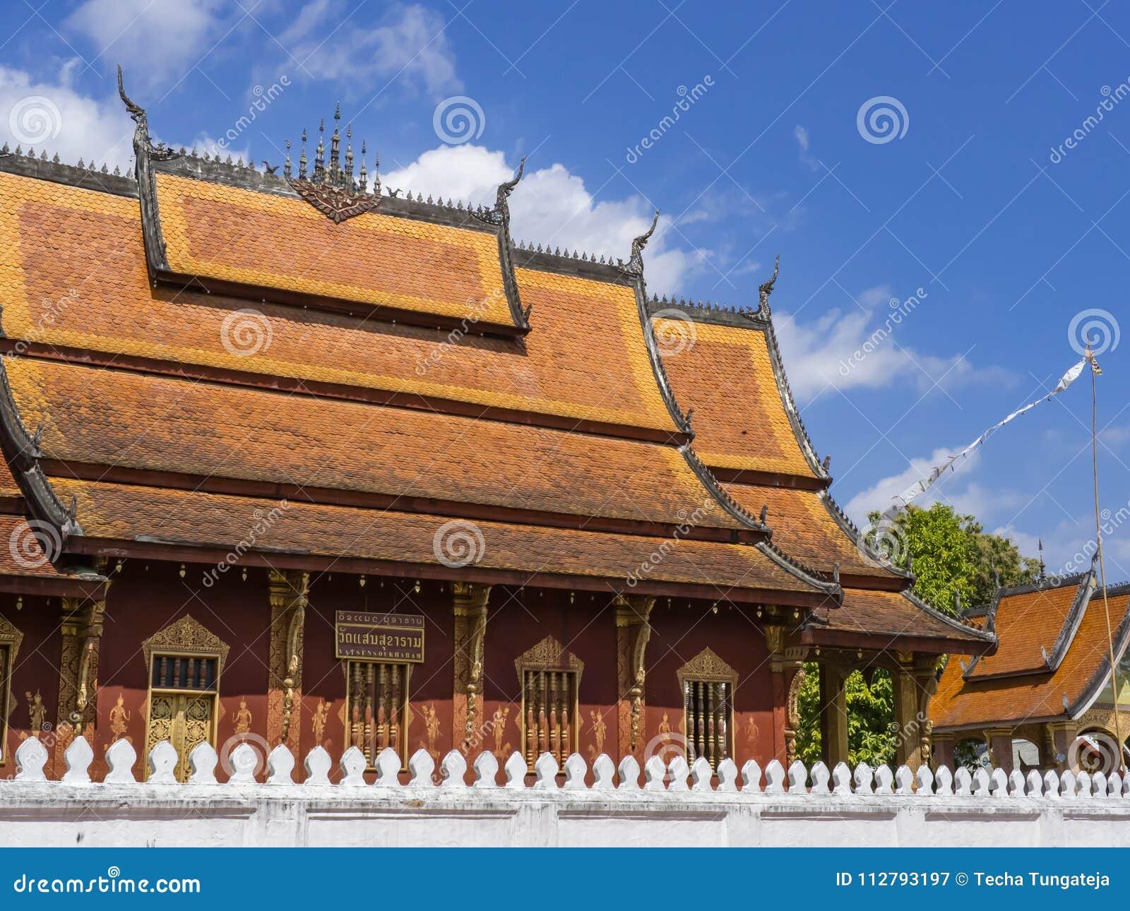Wat Sen Soukaram Översättning på etiketten: Sen Soukaram Temple