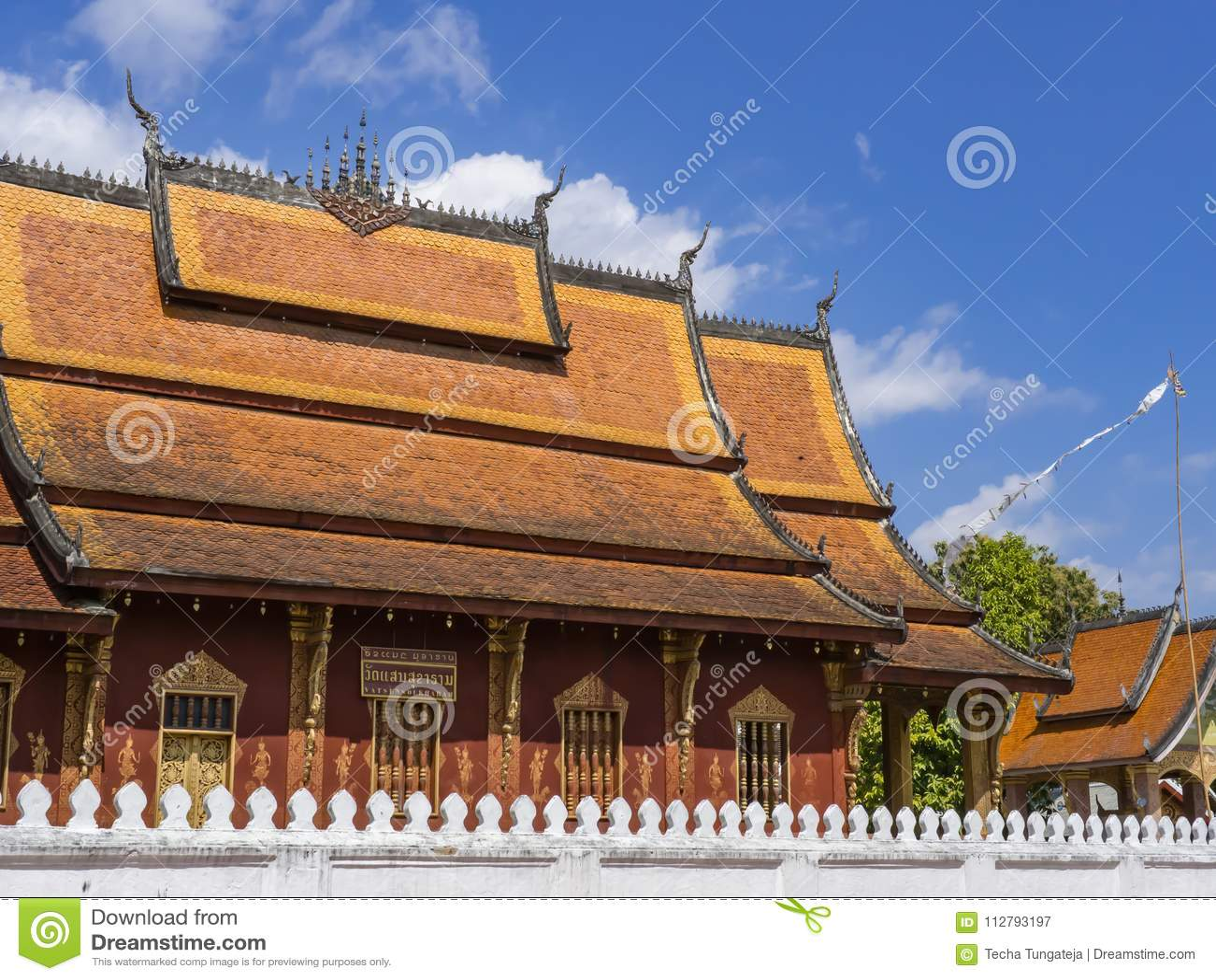 Wat Sen Soukaram Tradução na etiqueta: Senador Soukaram Temple