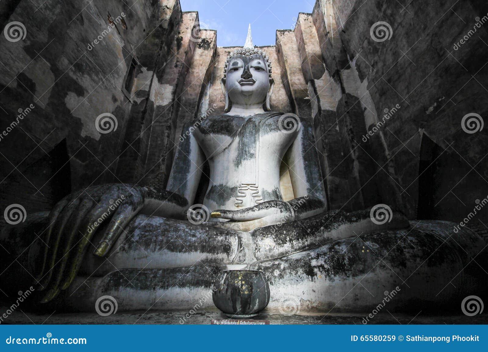 Wat Si Chum, templo de Srichum, parque histórico de Sukhothai