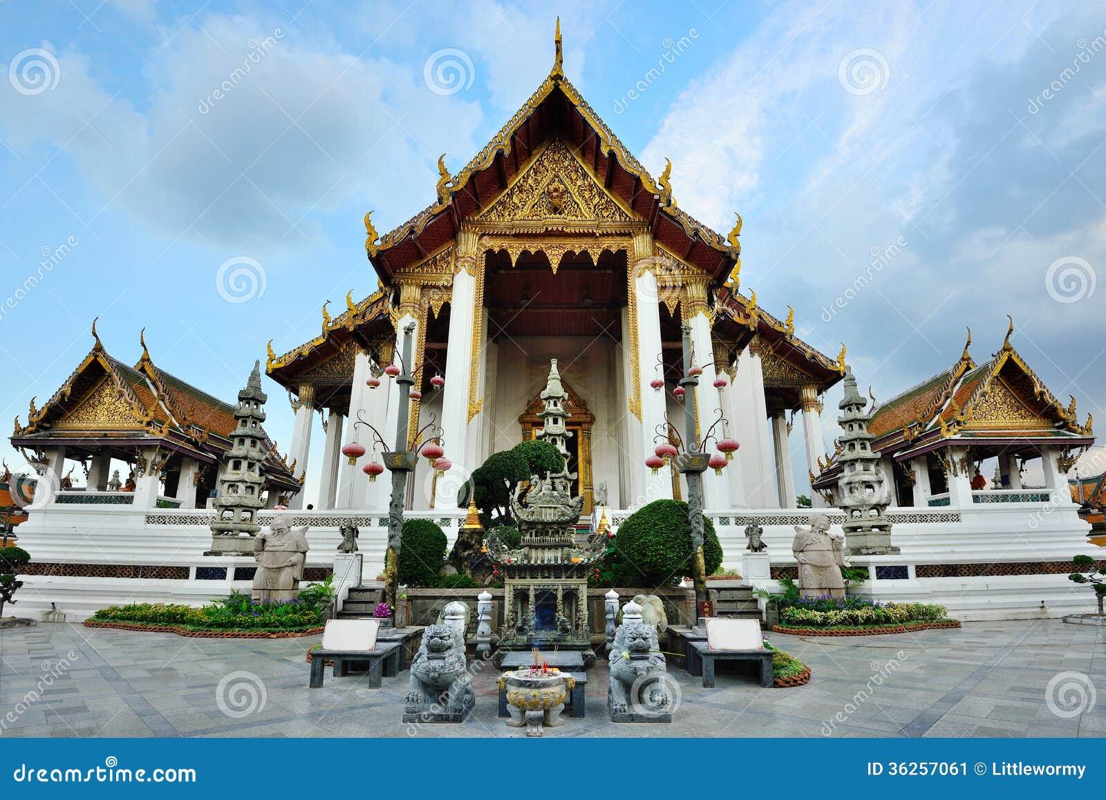 Wat Suthat Or Wat Suthat Thep Wararam, Bangkok,Thailand. Stock Image - Image:...