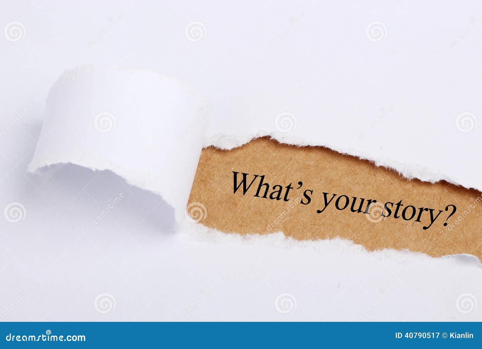 Wat is uw verhaal?