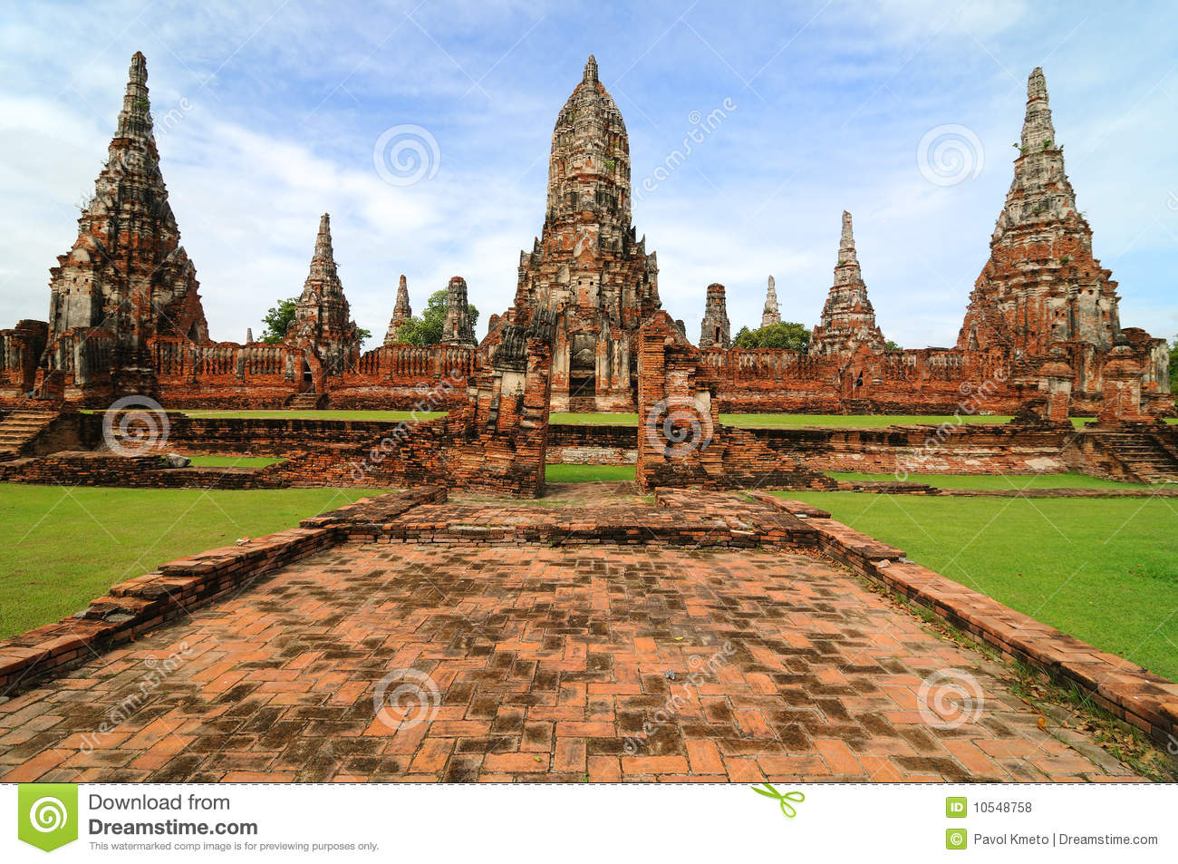 Ayutthaya Thailand  city photos : Wat Wattanaram, Ayutthaya, Thailand Royalty Free Stock Photos Image ...
