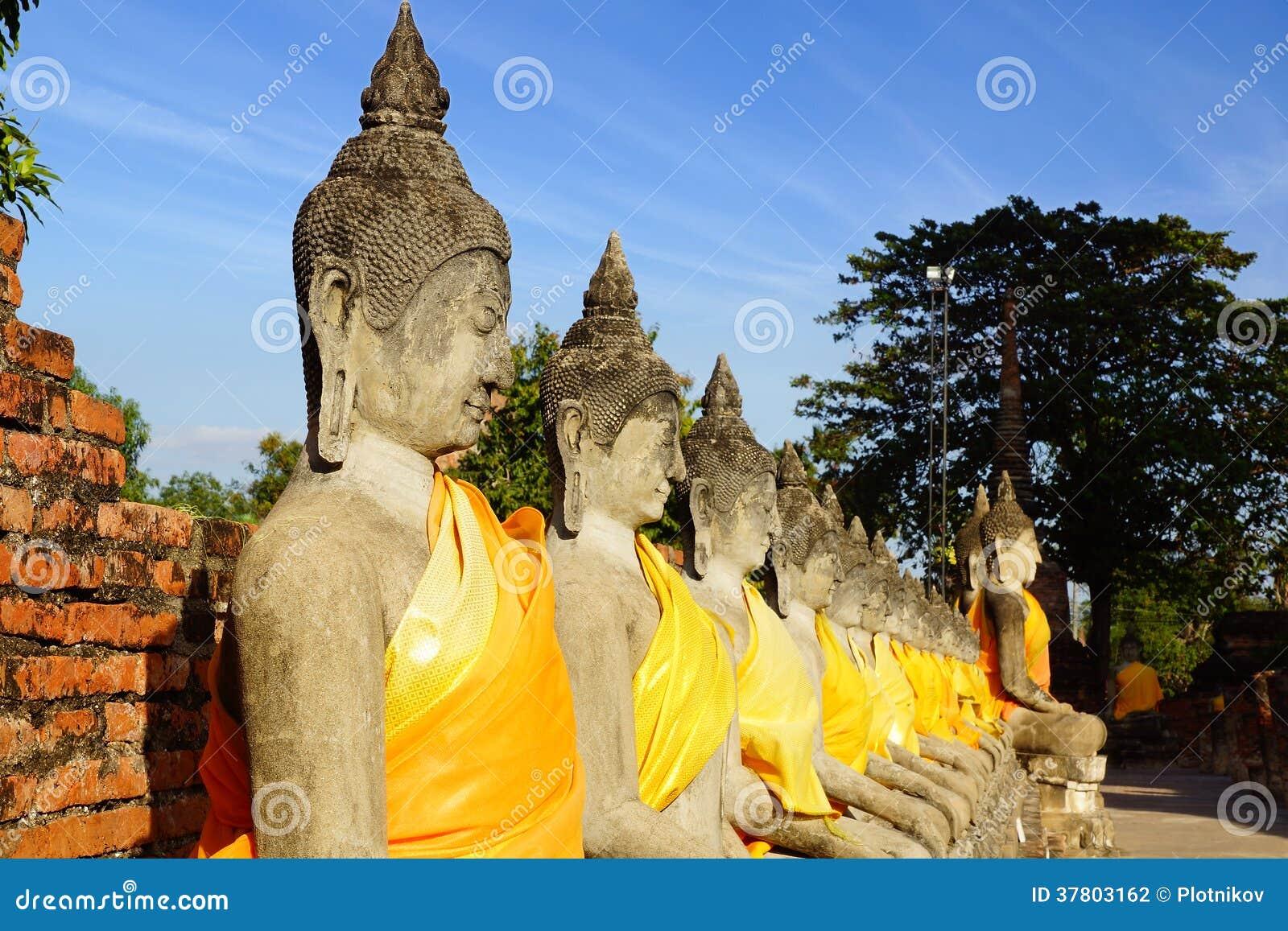 Wat柴Watthanaram寺庙。阿尤特拉利夫雷斯