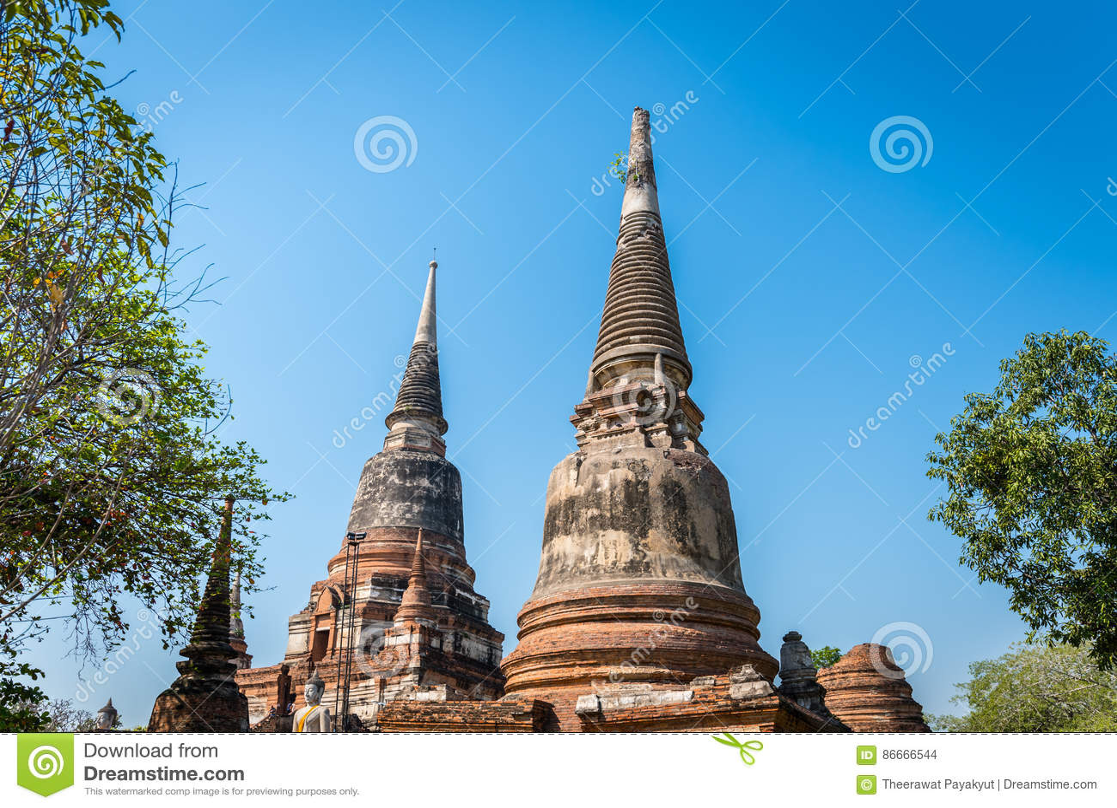 Wat Yai Chai Mongkol στο ιστορικό πάρκο Ayutthaya Το Monaster