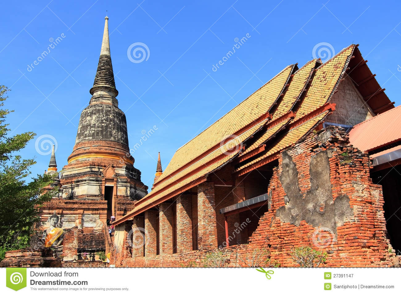 Wat Yai Chai Mongkol Royalty Free Stock Photography ...