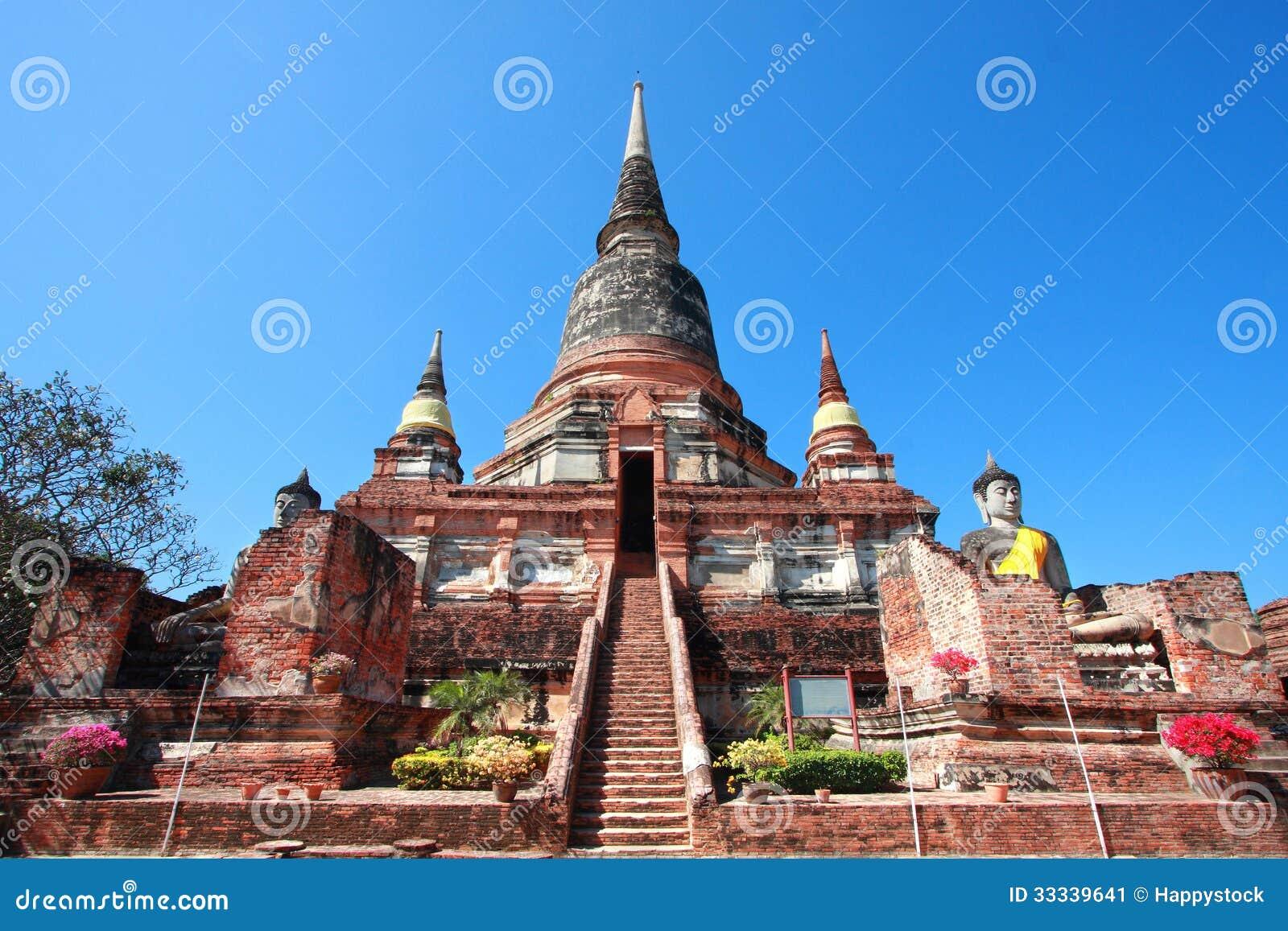 Wat Yai Chai Mongkol Stock Image - Image: 33339641