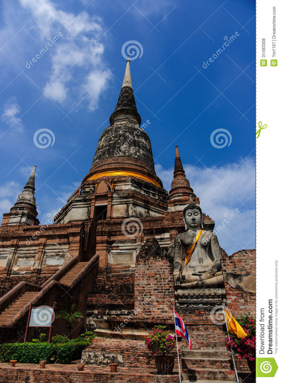 Wat Yai Chai Mongkol Temple Royalty Free Stock Photos ...
