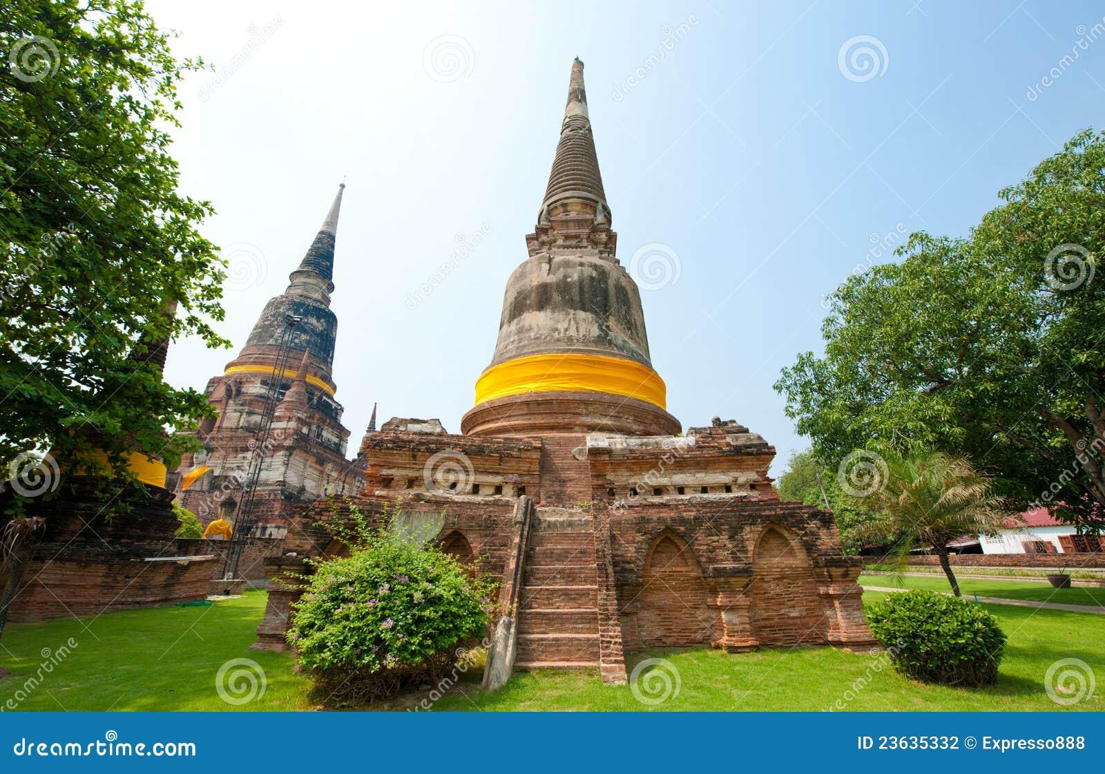 Wat Yai Chai Mongkol- Thailand Stock Photography - Image ...