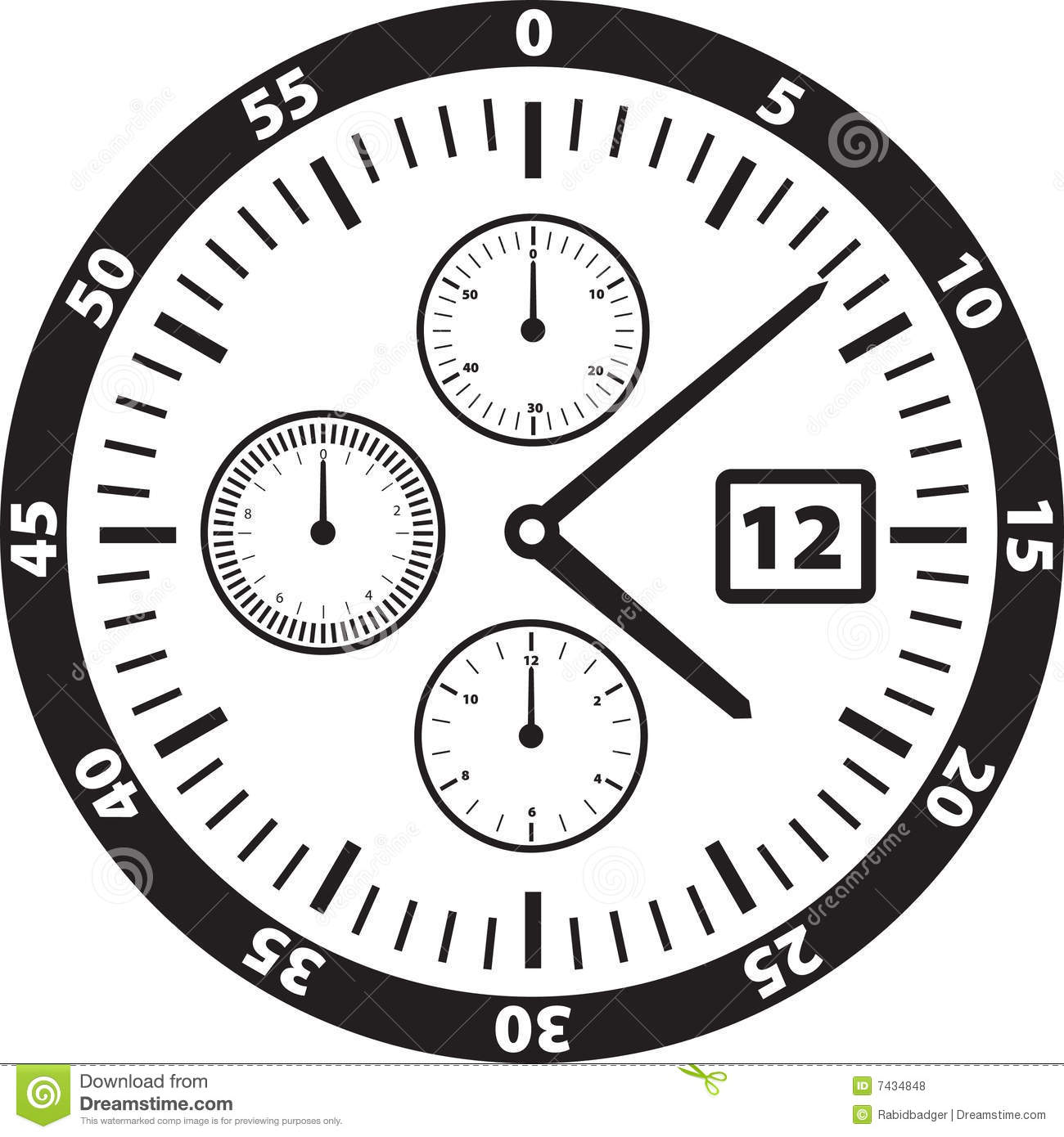 Watch Face Illustration stock vector. Illustration of ...