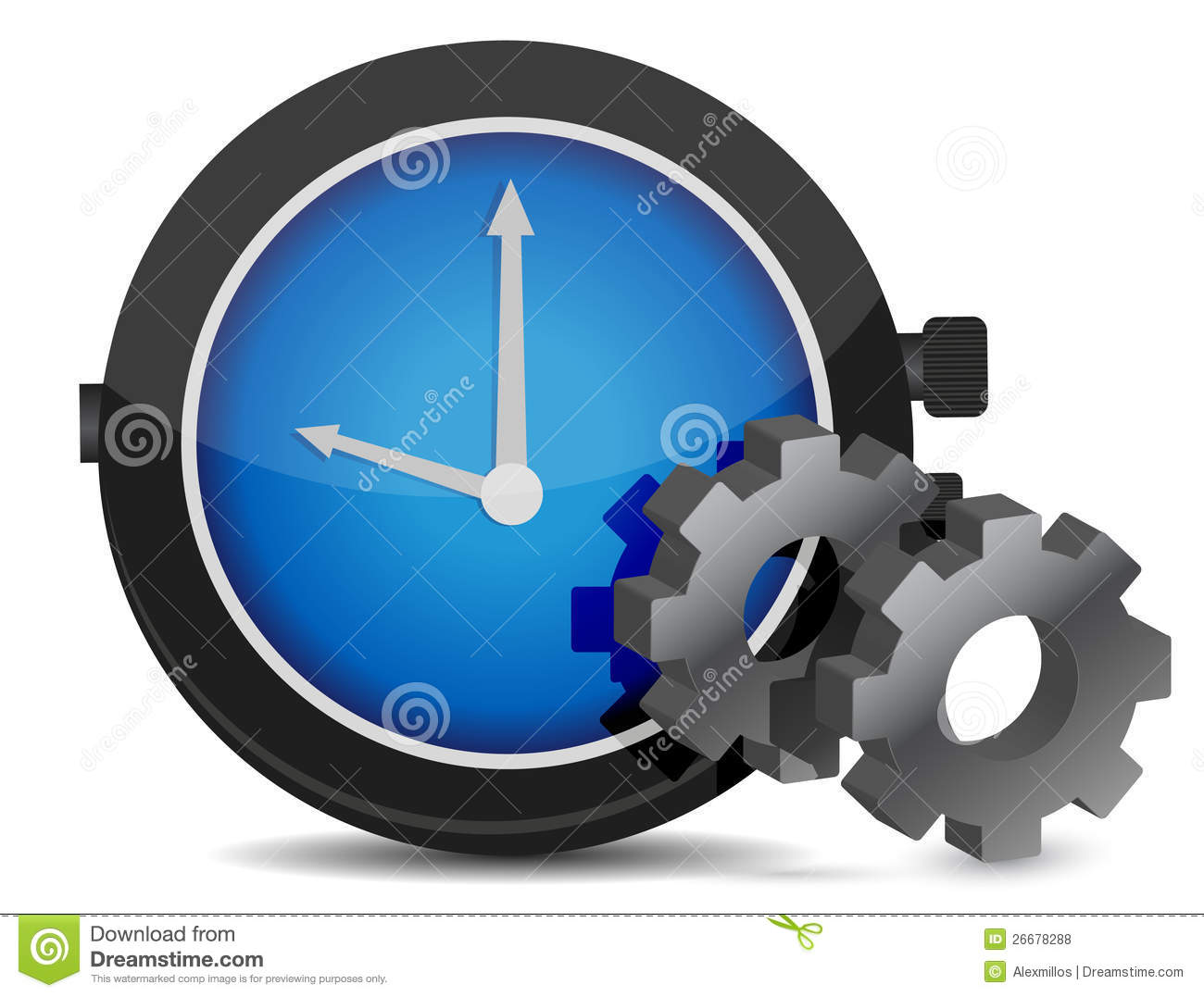 Watch And Gears Illustration Royalty Free Stock Photos ...