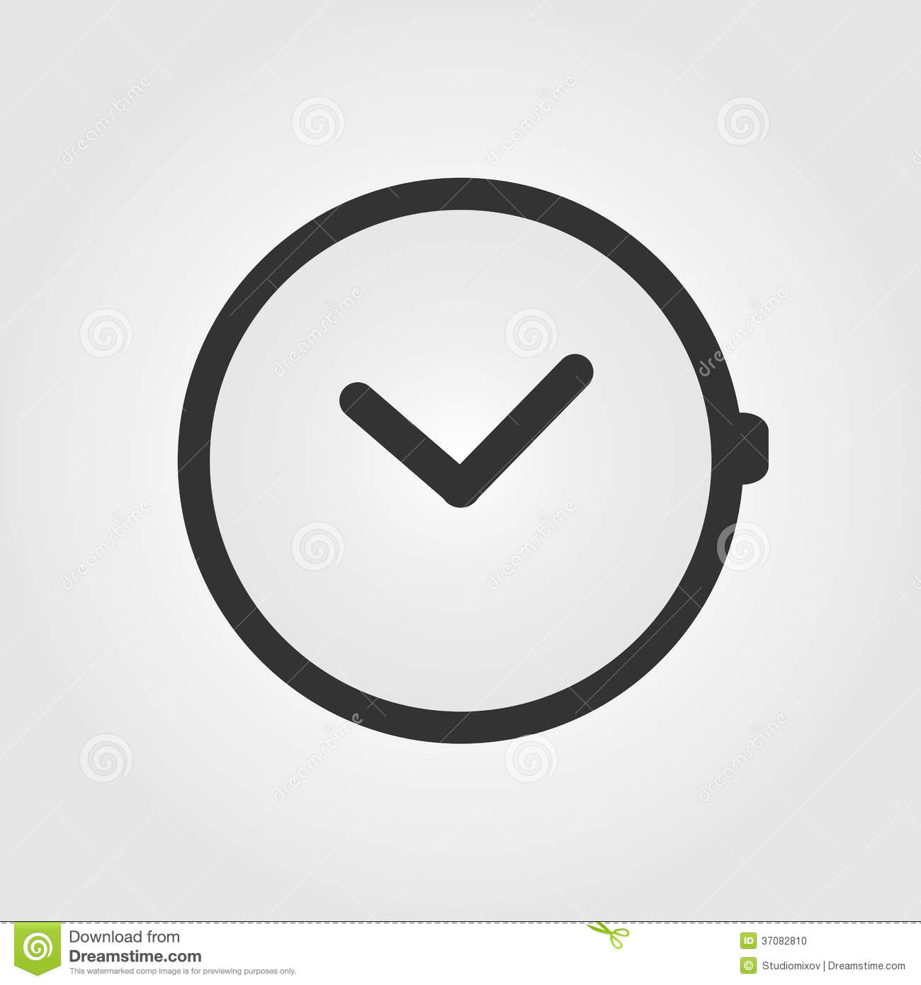 Watch Icon Flat Design Stock Photo Image 37082810
