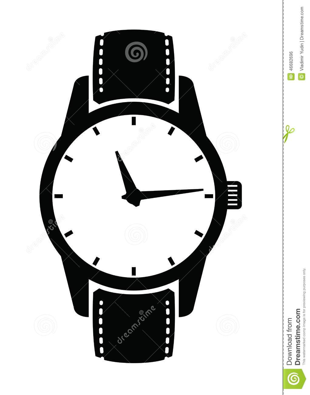 watch-icons-vector-black-set-white-46682
