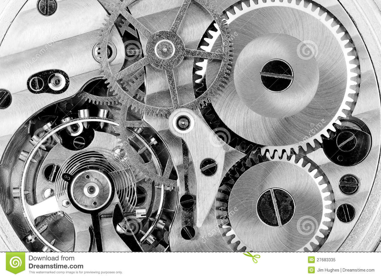 Watch Parts Gears And Spring Stock Image Image 27683335